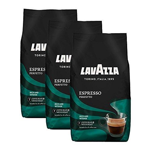Lavazza espresso Perfetto, 1000g ganze Bohne 3er Pack