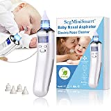 Nasensauger Baby Nasal Aspirator USB Aufladen Nasenschleimentferner Sicherer und Schneller Sowie Hygienischer, LCD Bildschirm, 5 Saugstufen mit 4 Größen Silikon Tipps Tragbar Nasensauger