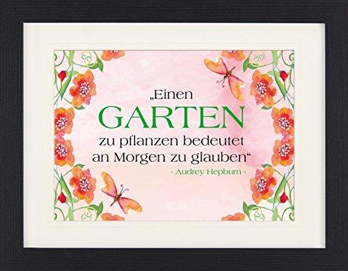 1art1 114323 Audrey Hepburn - Einen Garten Zu Pflanzen Bedeutet An Morgen Zu Glauben Gerahmtes Poster Für Fans Und Sammler 40 x 30 cm