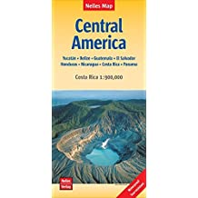 Nelles Map Landkarte Central America | Mittelamerika: 1:1.750.000 / Costa Rica 1:900.000 | reiß- und wasserfest; waterproof and tear-resistant; indéchirable et imperméable; irrompible & impermeable