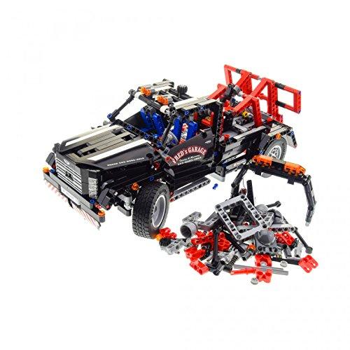 1 x Lego Technic Set Modell Traffic 9395 Pick-Up Tow Truck Abschlepp Wagen schwarz Fred´s Garage PB 9187 schwarz rot unvollständig