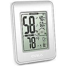 【2019 New】Oria Termómetro Higrómetro Interior, Termohigrómetro digital Medidor Temperatura y Humedad con