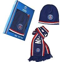 Coffret cadeau PSG - Echarpe + bonnet - Collection officielle Paris Saint Germain