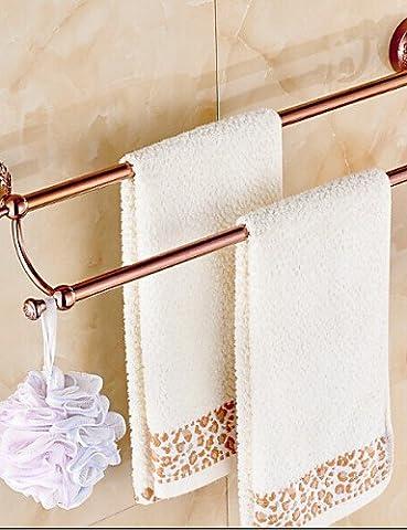 QMM bathroom accessories,Towel Bar Gold Wall Mounted 64*15*10cm(25.2*5.9*3.9inch) Brass / Zinc Alloy
