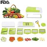 Make Real Multi - Schneider Gemüsehobel Gemüseschneider Gemüse und Obst Schneiden, Raspeln, Zerkleinen für Zwiebel, Kohl, Kartoffeln, Tomaten, Gurken, Multischneider, Gemüseschäler, Gemüsereibe (10 in 1) … (1688)