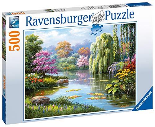 Ravensburger 14827 14827-Romantik am Teich-Erwachsenenpuzzle