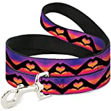 Buckle Down dl-w33409-w Hand Herz Silhouette Ombre Violetttönen/Orange/Pink Pet Leine, 4'lang–3,8cm breit
