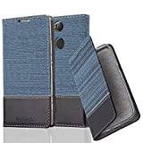 Cadorabo Book Case works with Sony Xperia XA2 in DARK BLUE BLACK � with Magnetic Closure, Stand Function and Card Slot � Wallet Etui Cover Pouch PU Leather Flip