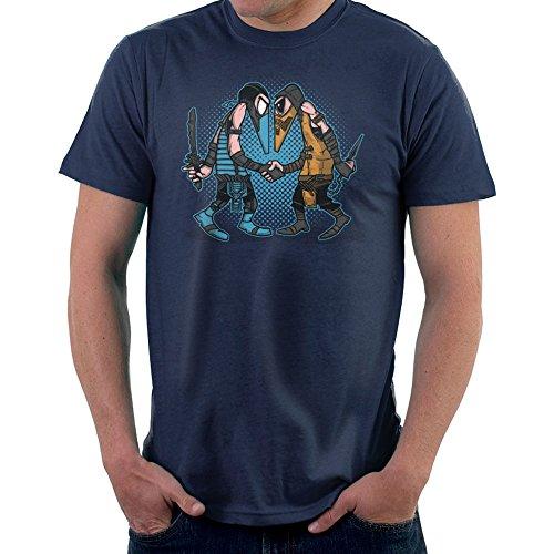 Mortal Kombat Spies Sub Zero Vs Scorpion Spy Vs Spy Men's T-Shirt