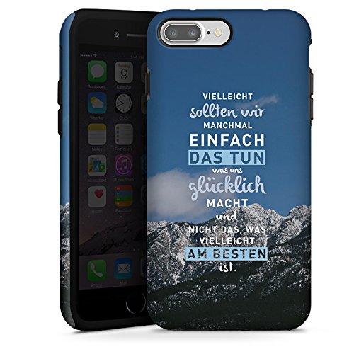 Apple iPhone X Silikon Hülle Case Schutzhülle Sprüche Glücklich Statement Tough Case matt