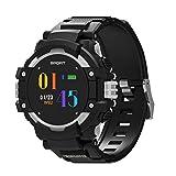 KLE F7 Smart Farbe Armband Armband Herzfrequenz Temperatur Höhen Kompass GPS-Positionierung Multi-Sport Bluetooth Uhr Smart Watch (Farbe : Silber)