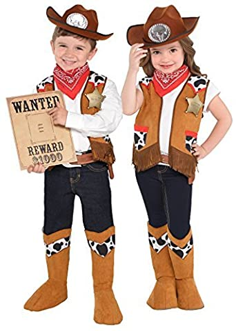 Western Kit Kids Fancy Dress Wild West Rodeo Cowboy Boys Girls Childs Costume