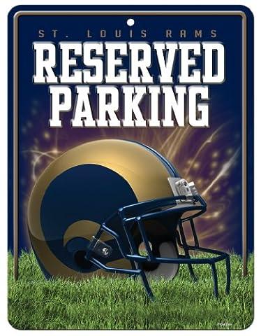 NFL Los Angeles Rams Metal Parking Sign