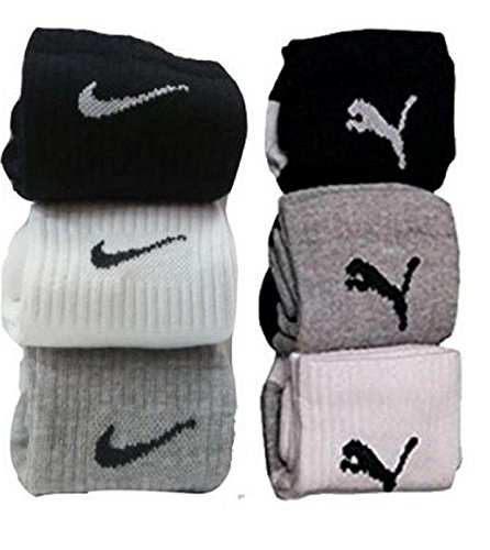 Worthy Shoppee Combo Offer Of 2 Pairs Nike and Puma Logo Sports Ankle Length Socks 1 Nike And 1 Puma  available at amazon for Rs.149