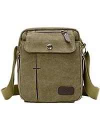 Outreo Bolsos de Tela Pequeñas Bolso Bandolera Hombre Bolsos Originales Vintage Bolsas de Viaje para Tablet Escolares Bolsa de Lona Colegio Universidad Libro Sport Messenger Bag
