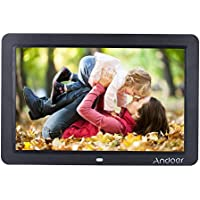 Andoer 12 inch HD LED Digital Picture Frame Wide Screen with Remote Control(Black)