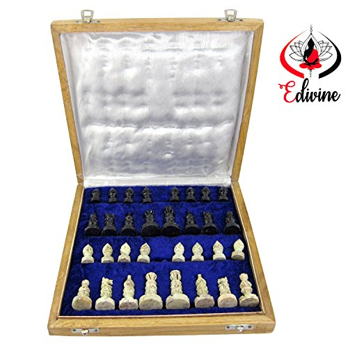 Stylla London® Premium Quality Marble Chess Set 30cm x 30cm Perfect Travel Chess Set
