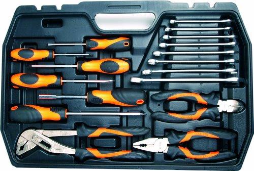 Werkzeugkoffer 101-teilig, Chrom-Vanadium-Stahl, Alle Stecknüsse mit Rändelung, ergonomisch geformte Werkzeuggriffe, im robusten Koffer mit Metallverschlüssen - 2