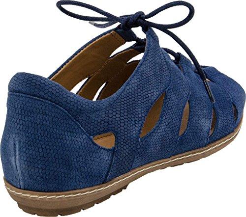 Earth Plover Damen Nubukleder Gladiator Sandale Sapphire Blue