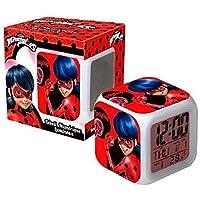 Ladybug Despertador Prodigiosa Cubos Digital Led 7 Colores Temperatura / Fecha / Alarma niños