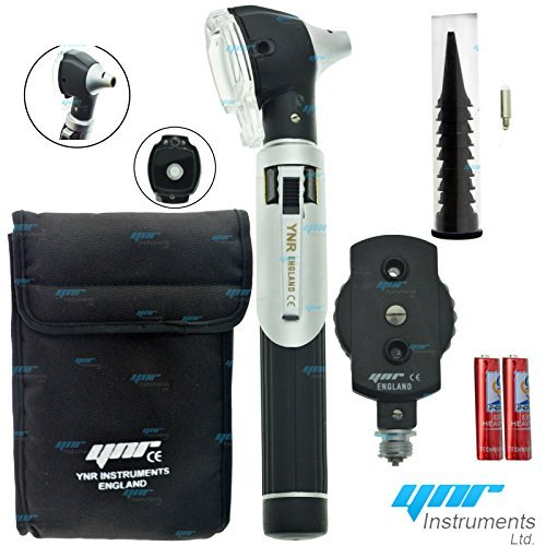 Compact F.O Opthalmoscope,ophthalmoscope,Otoscope ENT Diagnostic Set.LED,CE