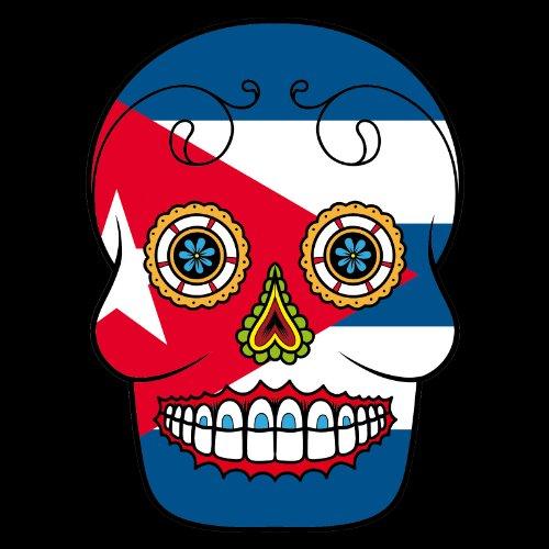 T-Shirt - Cuba - Sugar Skull - Fahne - Herren - unisex Schwarz
