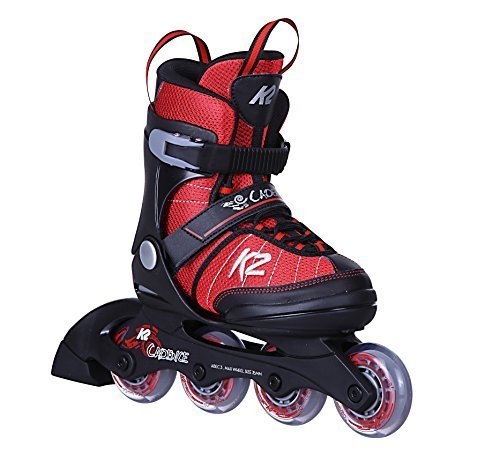 K2 Cadence JR Boy Kinder Inline-Skates 30C0340 Red/Black Gr. L (35-40)
