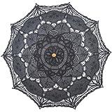 Topwedding Battenburg Cotton Embroidery Lace Bridal Wedding Umbrella