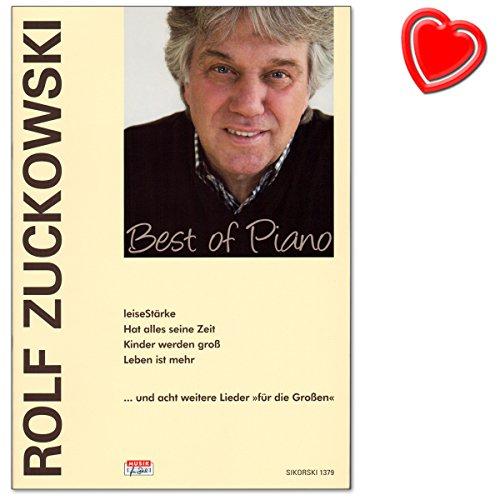 Rolf zuckow Esquí Best of Piano–Songbook para Piano, Voz, Guitarra con con Bunter herzförmiger–Partituras Verlag: Verlag: Hans Siko Esquí, sik1379, ISBN: 9783940982438, ismn: 9790003039206