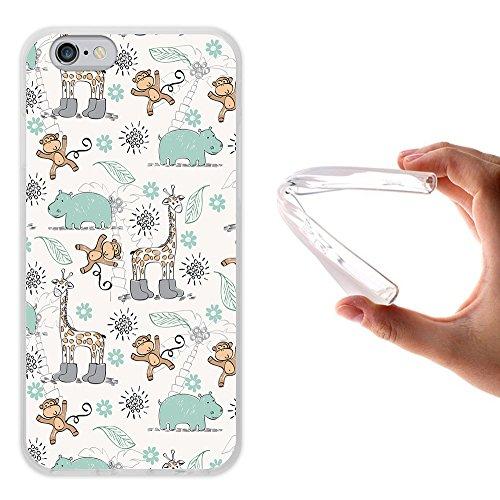 WoowCase Hülle Case für { iPhone 6 6S } Handy Cover Schutzhülle Gehirn, Musik und Wissenschaft Housse Gel iPhone 6 6S Transparent D0525