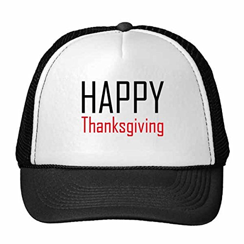 DIYthinker Feiern Sie Thanksgiving Day Segen Festival-Feiertag Gala Feier Wörter Trucker-Mütze Baseballkappe Nylon Mütze justierbare Kappe Erwachsener