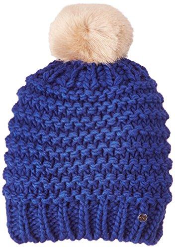 ESPRIT Damen Strickmütze Pompon Beanie, Gr. One size (Herstellergröße: Taille Unique), Blau (Dragon Blue)