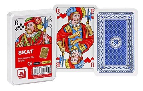 NSV - 7024 - Skat - Classic - franz. Bild - im Klarsichtetui - Spielkarten Großhandel