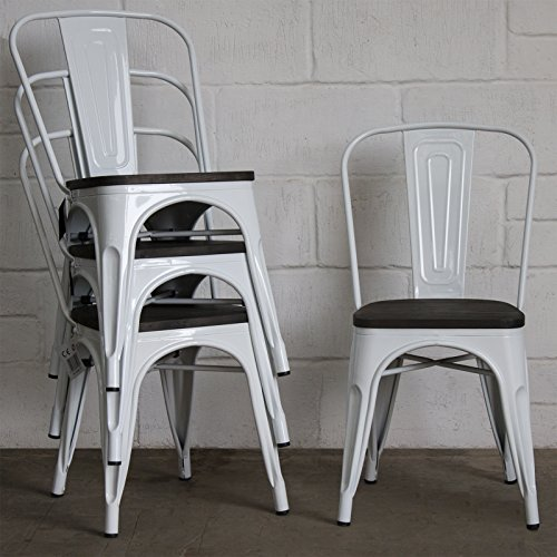 366e3db60e41 Marko Furniture Set of 4 White Metal Industrial Dining for sale Delivered  anywhere in UK