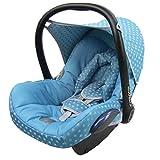 BAMBINIWELT Ersatzbezug für Maxi-Cosi CabrioFix 6-tlg, Bezug für Babyschale, Komplett-Set STERNE OLIVE *NEU*