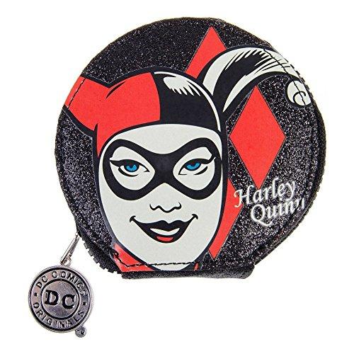 DC Comics Harley Quinn Petit Porte Monnaie Zip Rond (Multicolore)