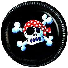 8 Piraten-Party-Teller für Kinder-Party / Kindergeburtstag von Lutz Mauder // 11102 // Geburtstag Pirate Pirat Freibeuter Seeräuber Totenkopf Schwarze Flagge Feier Kinder