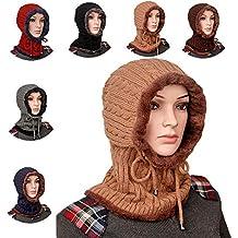 25e709dde688 Bonnet Echarpe Hiver Chaud Tricote Velours Coton Doux Polaire Fantaisie  Swag Mode Fashion Tour de Cou