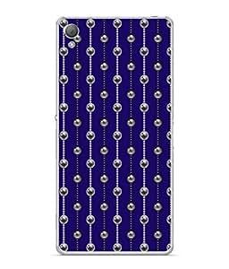 PrintVisa Designer Back Case Cover for Sony Xperia XA :: Sony Xperia XA Dual (Line design babools The Blue background)