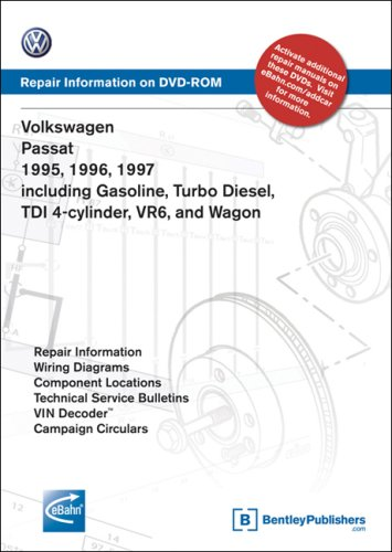 Volkswagen Passat 1995, 1996, 1997: Repair Manual on DVD-ROM: Including Gasoline, Turbo Diesel Tdi 4-Cylinder, Vr6, and Wagon