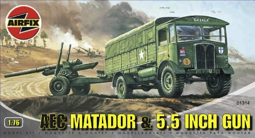 airfix-a01314-aec-matador-55-gun-176-scale-series-1-plastic-model-kit