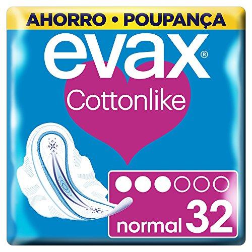 Evax Cottonlike Normal Compresas Con Alas - 32 unidades