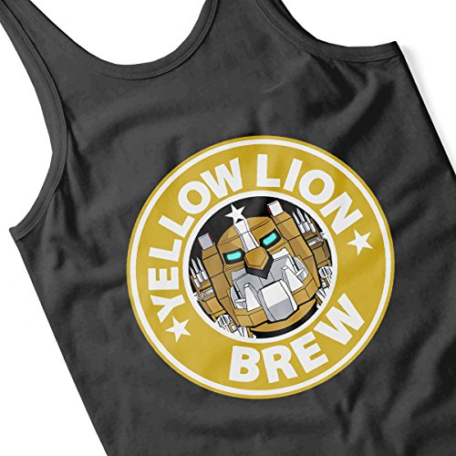 Voltron Yellow Lion Brew Coffee Men's Vest Black