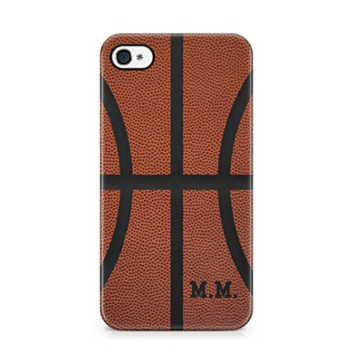 Basketball Ball Personalised Customizable Custom Name Initial Text Create Your Own Gift Present Schutzhülle aus Hartplastik Handy Hülle für iPhone 4 / iPhone 4s Case Hard Cover