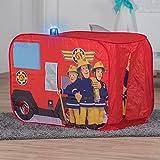 John 78208 Feuerwehrauto Sam mit Blaulicht-Spielzelt, Feuerwehrzelt, Kinderzelt, Spielhaus mit gedrucktem Motiv für Kinder, Rot Vergleich