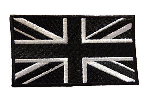 fat-catz-copy-catz verschiedene Farben Union Jack, Armee, England, Vereinigtes Königreich, patriotisch Flagge Eisen Aufnäher Kleidung Aufnäher schwarz Union Jack Aufnäher, Small