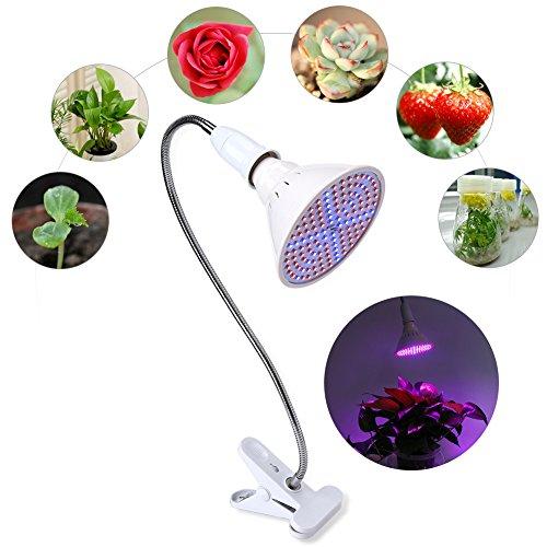 LED Pflanzenlampe, 126 LEDs Pflanzenlicht, 380nm-780nm Lichtspektrum ähnlich dem Sonnenlicht,22Rot(630nm)+12-Blau(460nm)+2-Weiß(6500k)+2IR(760nm)+2UV(400nm),Überwinterungshilfe(欧规)