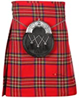 Mens 5 Yard Royal Stewart Scottish Kilt  Waist Sizes 30 - 50 inches Clan