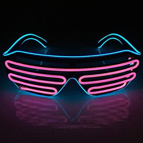 BAOJINTAO Blinds Mask EL DJ Drahtgläser, Lumineszenzdrahtgläser für Partybedarf,Blue