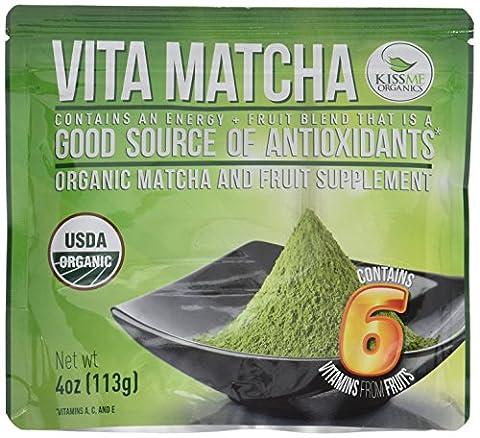 Vita Matcha Vitamin Infused Organic Natural Detoxifier and Fat Burner - 4-Ounce bag (113 grams)